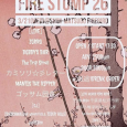"BOBBYS  BAR で出演します。   2018  3/21  ""FIRE STOMP 26″ ゴッサム団長 ZORRO BOBBY'S BAR カミソリレター Mantis the Ripper The Trip Stroll DJ:ISHIKAWA DJ:Jun153cm OPEN 17:30 / START 18:00 前売 \2,500 / 当日 \3,000"