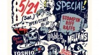 Bobbys barにオルガンで参加します。 BLAST JAMS!! GARAGE special 5/21 shimokitazawa THREE open/start:18:30 adv:¥2000 door:¥2500 Live: MAD3 STOMPIN' RIFFRAFFS Bobby's bar MELLViNS DJ: toshio sasai WOODCHUCK