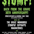 magnatonesにオルガンで参加します。 STOMP! Back From The Grave 30th Anniversary!! 2019.3.16at 仙台TAKE THE GREAT MONGOOSE STOMPIN' RIFFRAFS MAGNATONES BLUE STARS The Kontroversy THUNDER TOMAHAWK THE PLASTIC SOUL THE ARNOLDS Dr.psychedelic poodle The Suuzys Middle's Daddy-O-Nov Jimmy Mashiko Mr.Death OKEN Beny JP